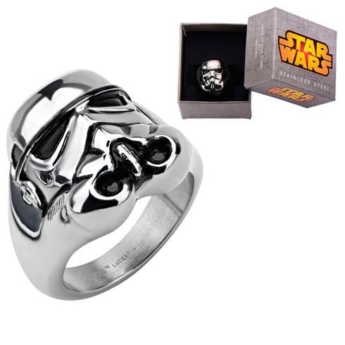 Stainless Steel Star Wars 3D Storm Trooper Ring