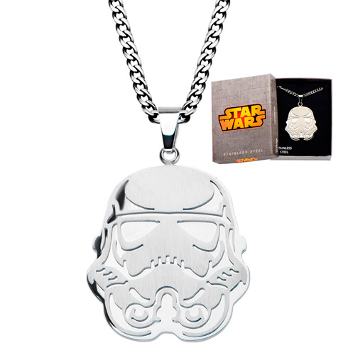 Stainless Steel Star Wars Storm Trooper Pendant on 22in Chain