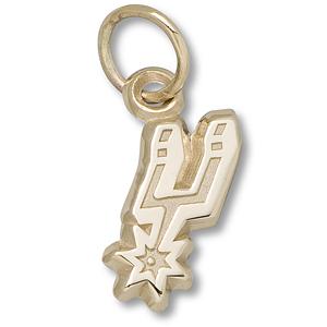 14kt Yellow Gold 3/8in San Antonio Spurs Logo Pendant