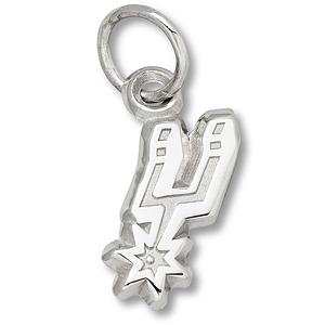 Sterling Silver 3/8in San Antonio Spurs Logo Pendant