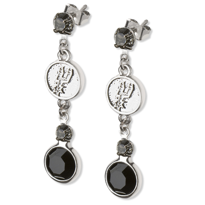 San Antonio Spurs Crystal Logo Earrings