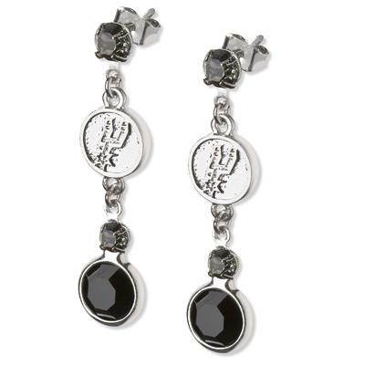 San Antonio Spurs Crystal Logo Earrings