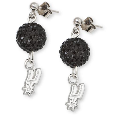 Sterling Silver San Antonio Spurs Ovation Earrings