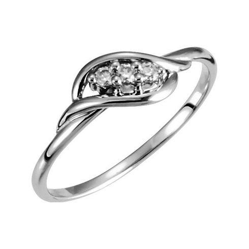 14kt White Gold .06 ct 3-Stone Diamond Promise Ring
