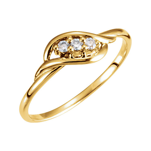 14kt Yellow Gold .06 ct 3-Stone Diamond Promise Ring