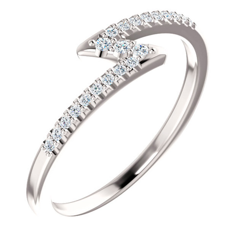14kt White Gold 1/4 ct tw Diamond Stackable Z Ring