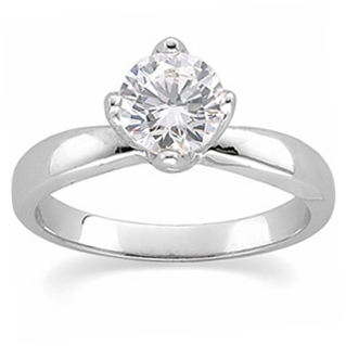 2 ct tw Moissanite Tulipset Solitaire Ring