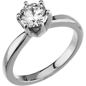 1 ct tw Forever One Moissanite Solstice Solitaire Ring