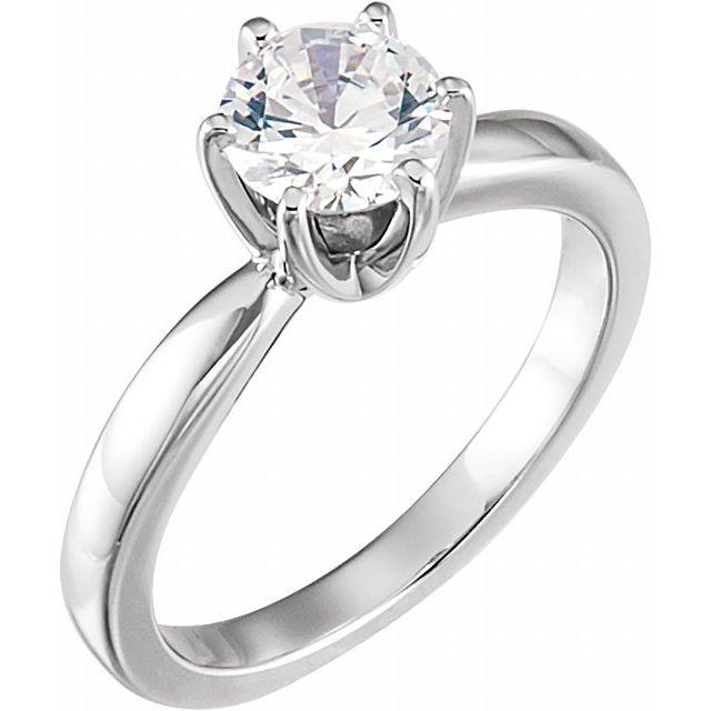 2 ct tw Moissanite Solstice Solitaire Ring