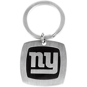 Stainless Steel New York Giants Logo Keychain