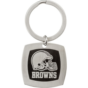 Stainless Steel Cleveland Browns Square Key Chain
