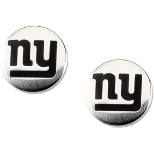 Stainless Steel New York Giants Stud Earrings
