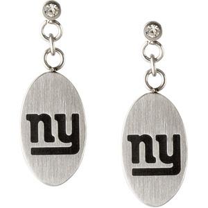 Stainless Steel New York Giants Dangle Earrings