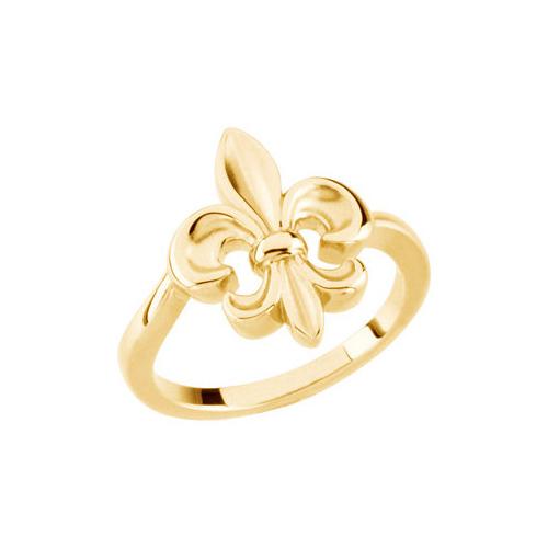 14kt Yellow Gold Fleur-de-lis Ring