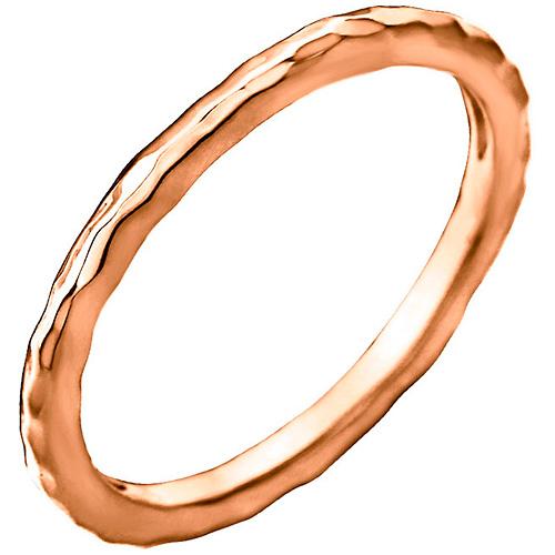 14kt Rose Gold 2mm Hammered Stackable Ring