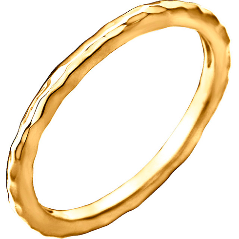 14kt Yellow Gold 2mm Hammered Stackable Ring