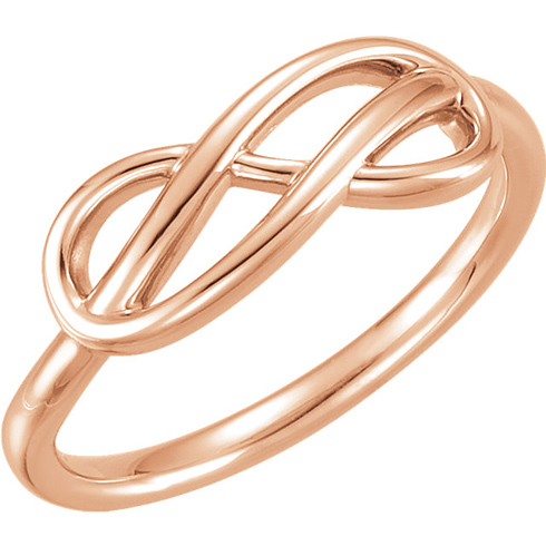 14kt Rose Gold Knotted Infinity Ring