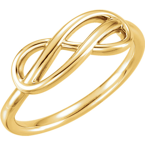 14kt Yellow Gold Knotted Infinity Ring