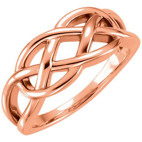 14kt Rose Gold Freeform Knot Ring