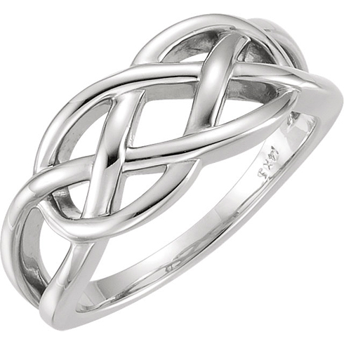 14kt White Gold Freeform Knot Ring
