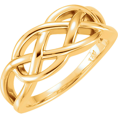 14kt Yellow Gold Freeform Knot Ring