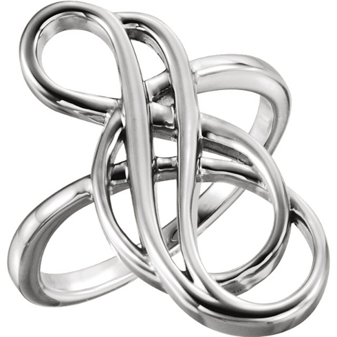 14kt White Gold Staggered Infinity Ring