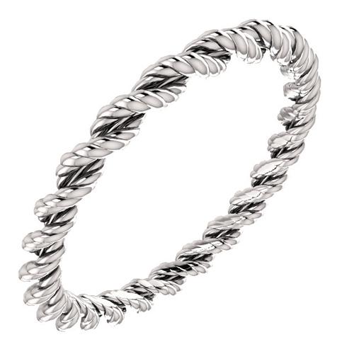 Rope Design Bands: Platinum 2mm Twisted Rope Design Wedding Band JJ51566PLAT