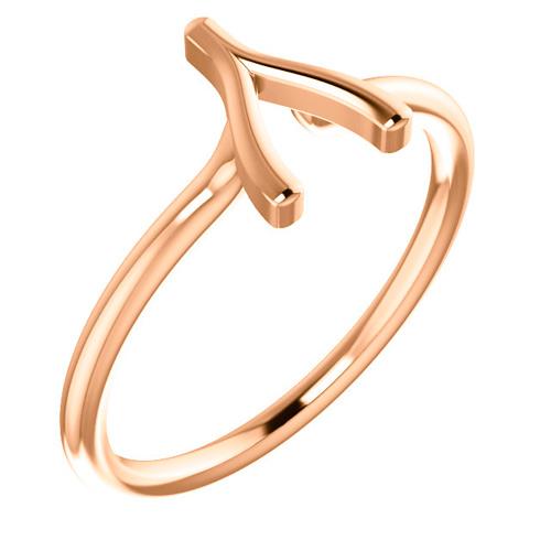 14kt Rose Gold Wishbone Ring