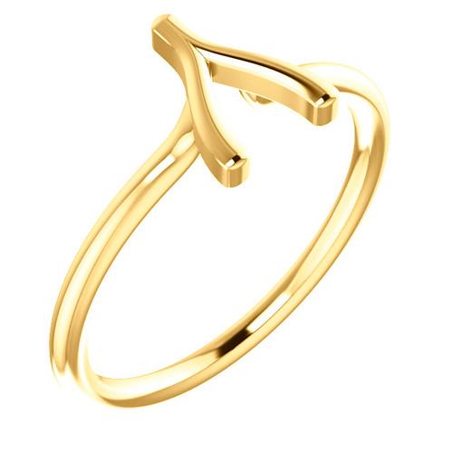 14kt Yellow Gold Wishbone Ring
