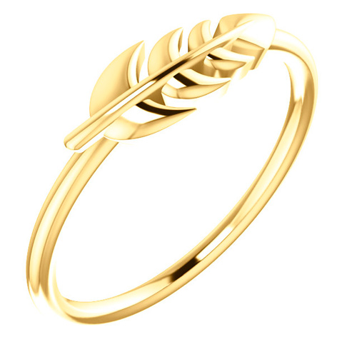 14kt Yellow Gold Leaf Ring