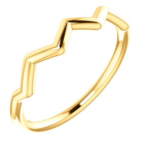 14kt Yellow Gold Stackable Zig Zag Ring