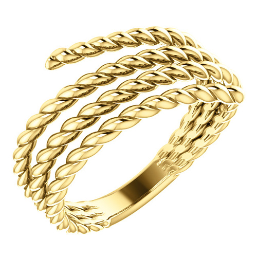 14kt Yellow Gold Spiral Wrapped Rope Ring