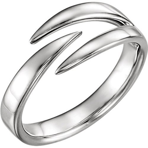 14kt White Gold Negative Space Pointed Ring