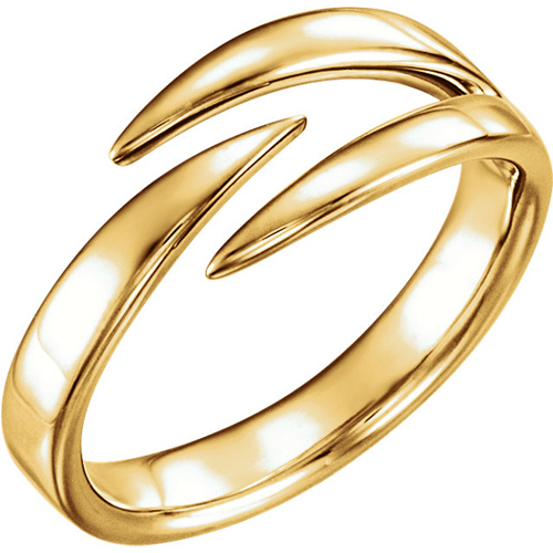 14kt Yellow Gold Negative Space Pointed Ring