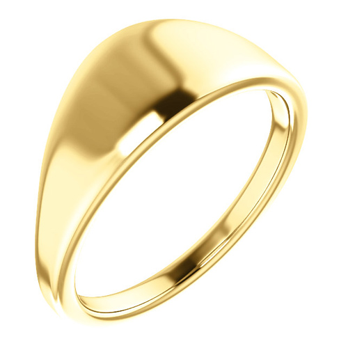 14kt Yellow Gold Tapered Smooth Signet Ring