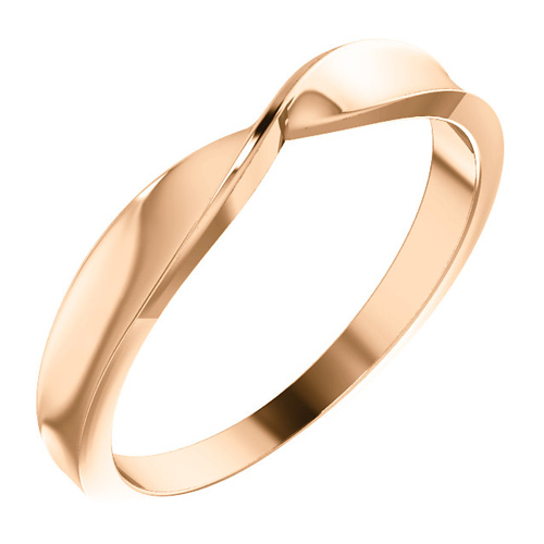 14kt Rose Gold Twisted Stackable Ring