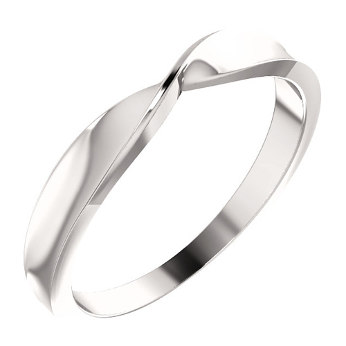 14kt White Gold Twisted Stackable Ring