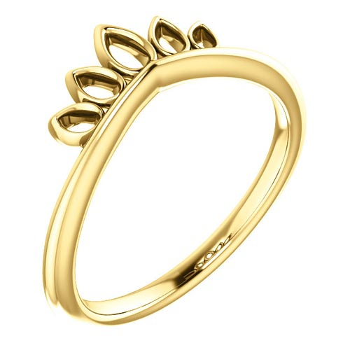 14kt Yellow Gold Marquise Shaped Crown Ring