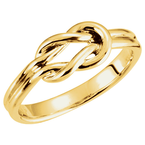14kt Yellow Gold Grooved Knot Ring