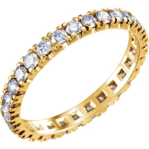 14kt Yellow Gold 9/10 CT TW Diamond Eternity Band