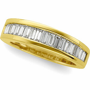14kt Yellow Gold 1 ct tw Baguette Diamond Anniversary Band