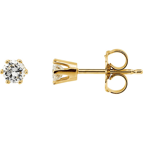 14kt Yellow Gold 1/3 ct Diamond Stud Earrings