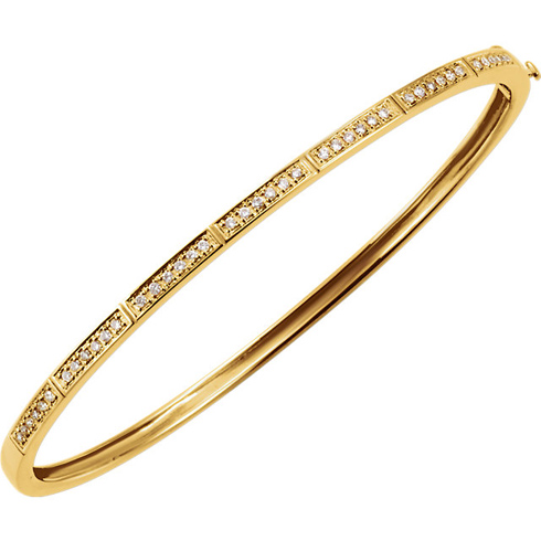 14kt Yellow Gold 1/3 ct Diamond Bangle Bracelet