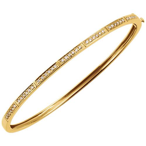 14kt Yellow Gold 1/3 ct Diamond Bangle Bracelet