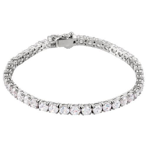 Sterling Silver Cubic Zirconia Tennis Bracelet 7in