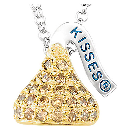Sterling Silver 1/2in HERSHEY'S KISSES November Birthstone Necklace