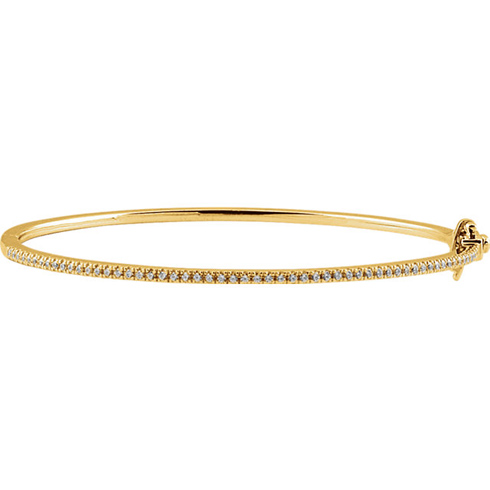 14kt Yellow Gold 1/2 ct Diamond Bangle Bracelet