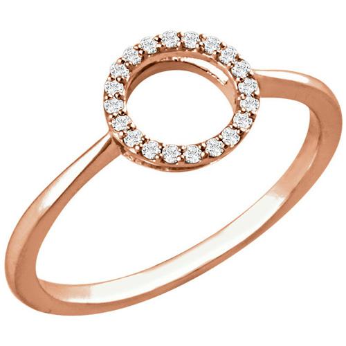 14kt Rose Gold 1/10 ct Diamond Circle Ring