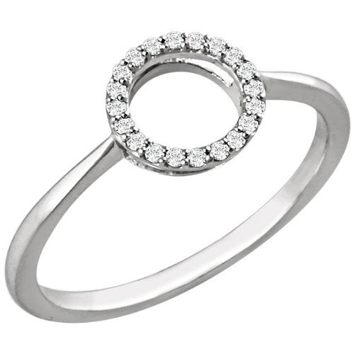 14kt White Gold 1/10 ct Diamond Circle Ring