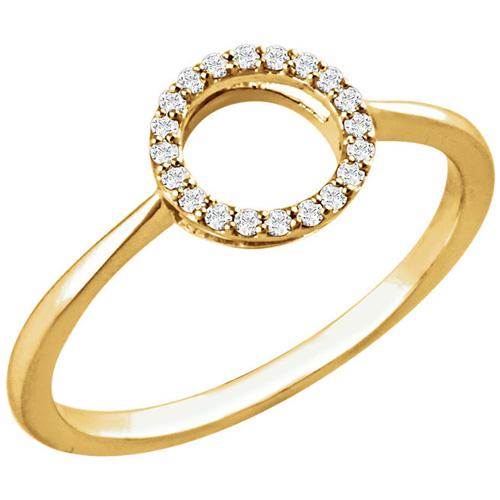 14kt Yellow Gold 1/10 ct Diamond Circle Ring